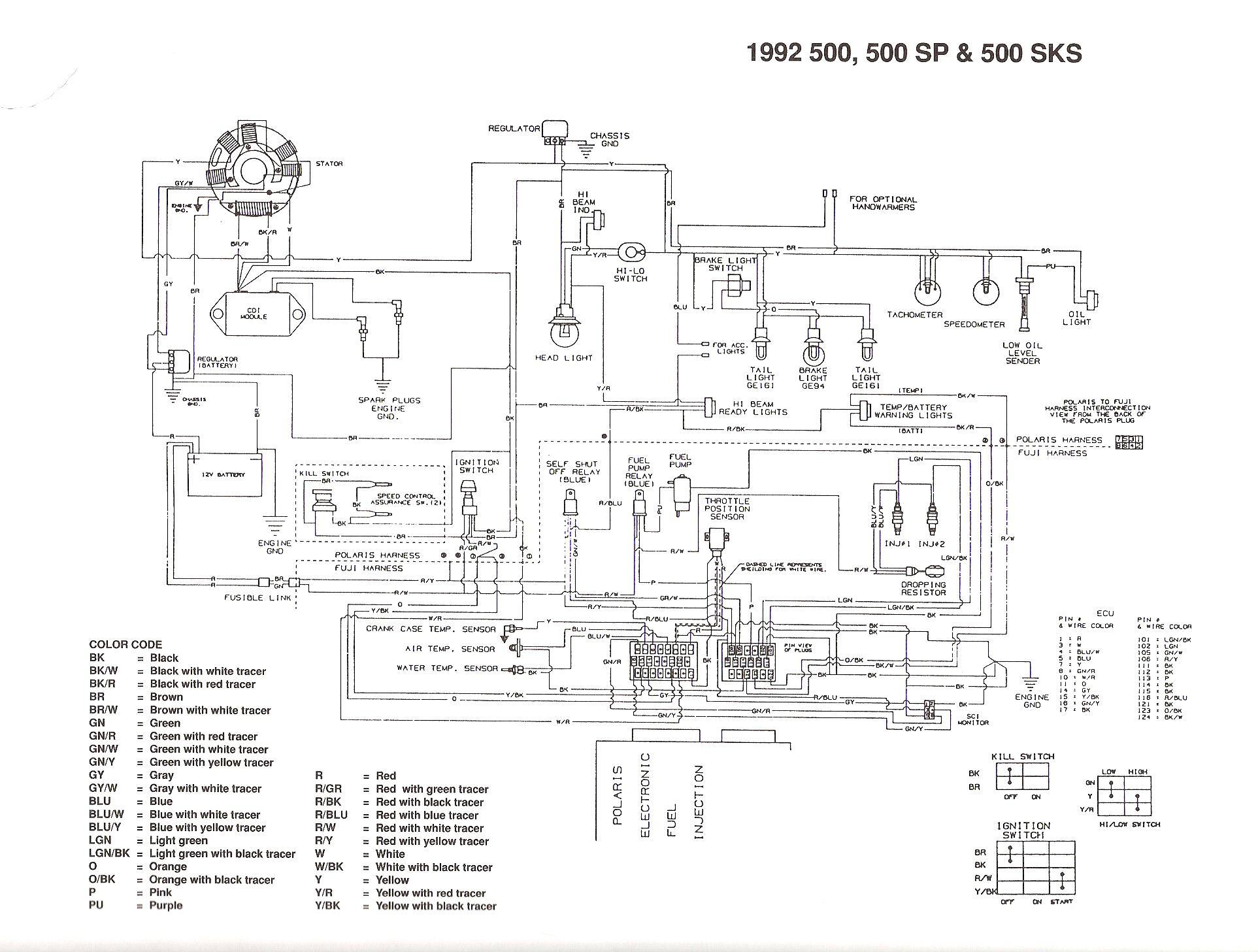 Polaris Snowmobile Wiring Diagrams Stat Wiring Diagram For Wiring Diagram Schematics