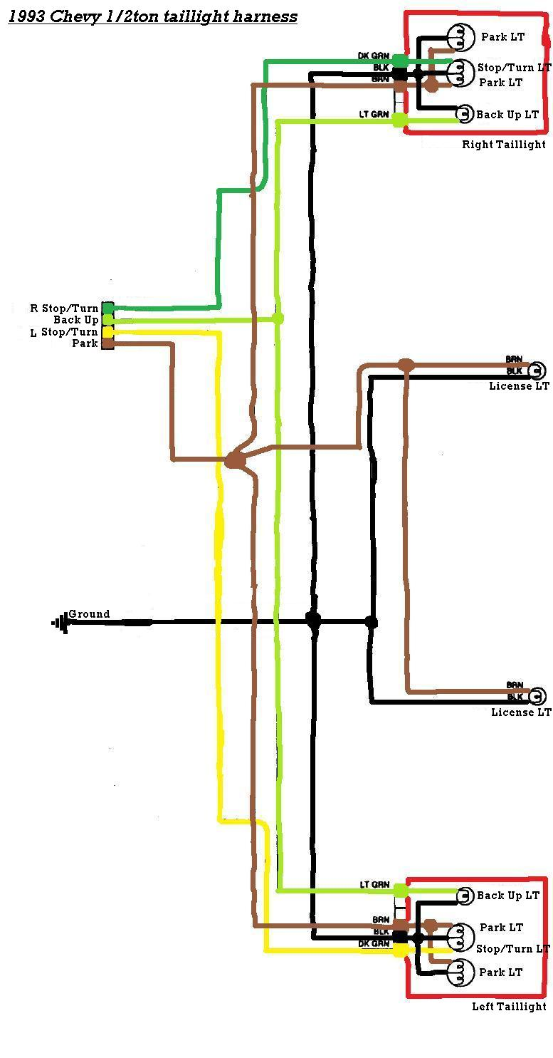 Acura Integra Wiring Diagram For Tail Lights Panel From Chevy Light Fuse To 1975 1992 Silverado Todaystail Truck Simple