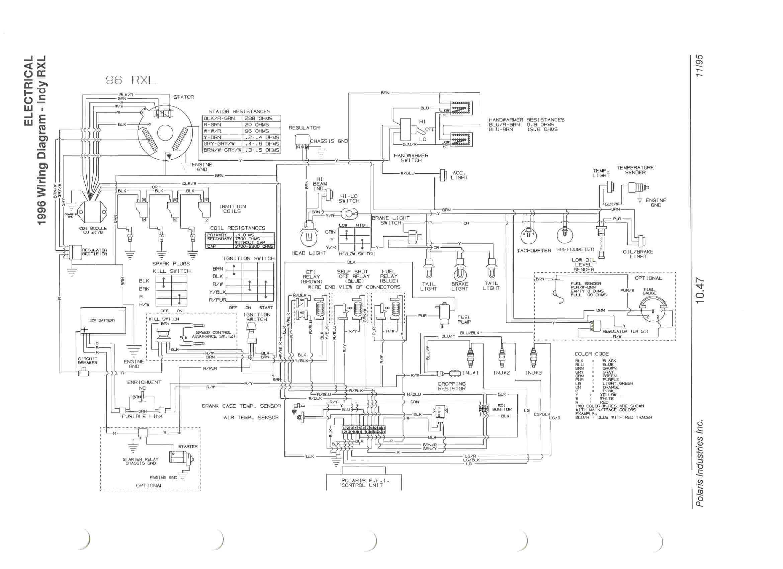 2002 Polari Classic 500 Wiring Diagram
