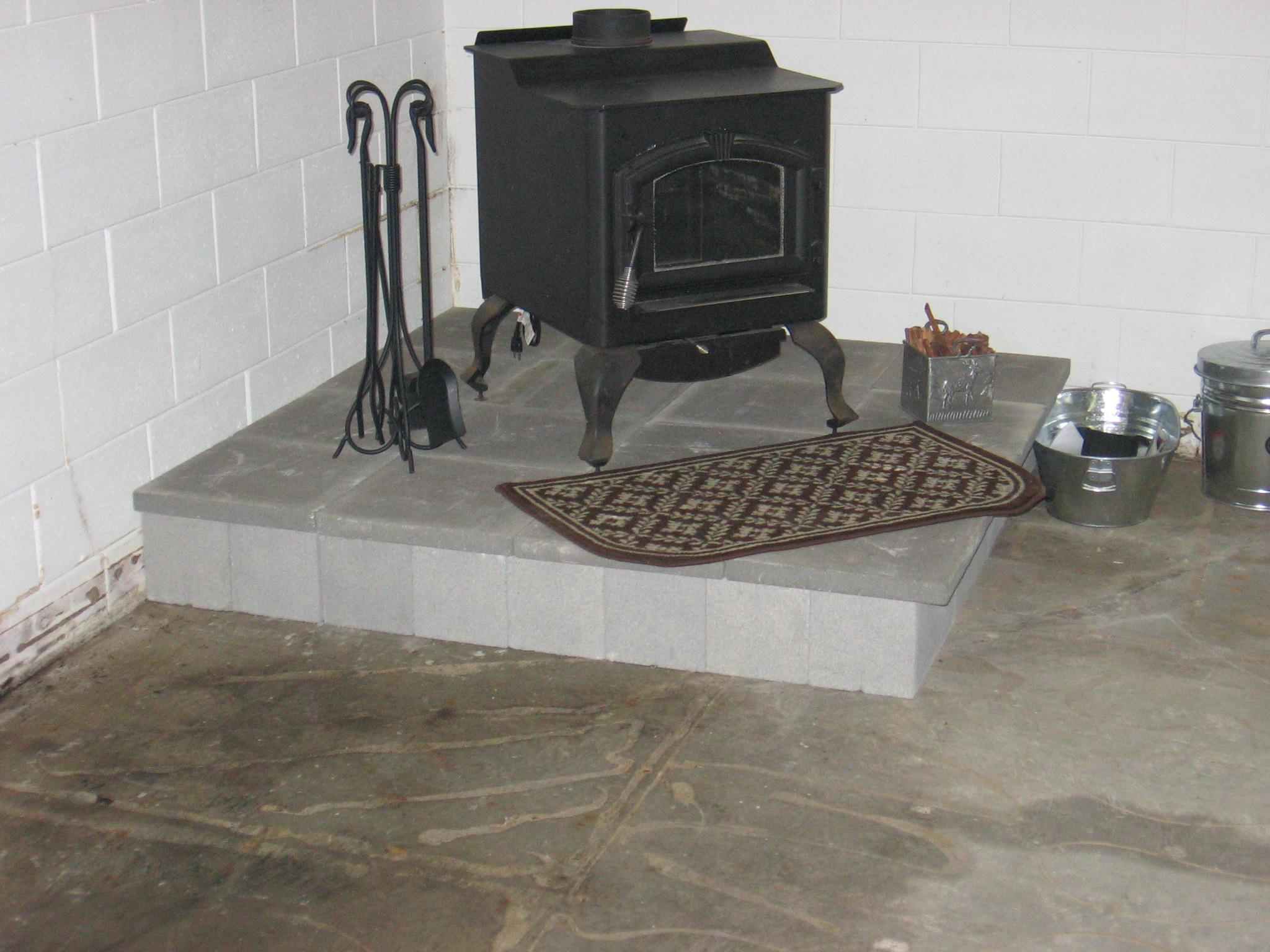 installing a freestanding wood burning fireplace