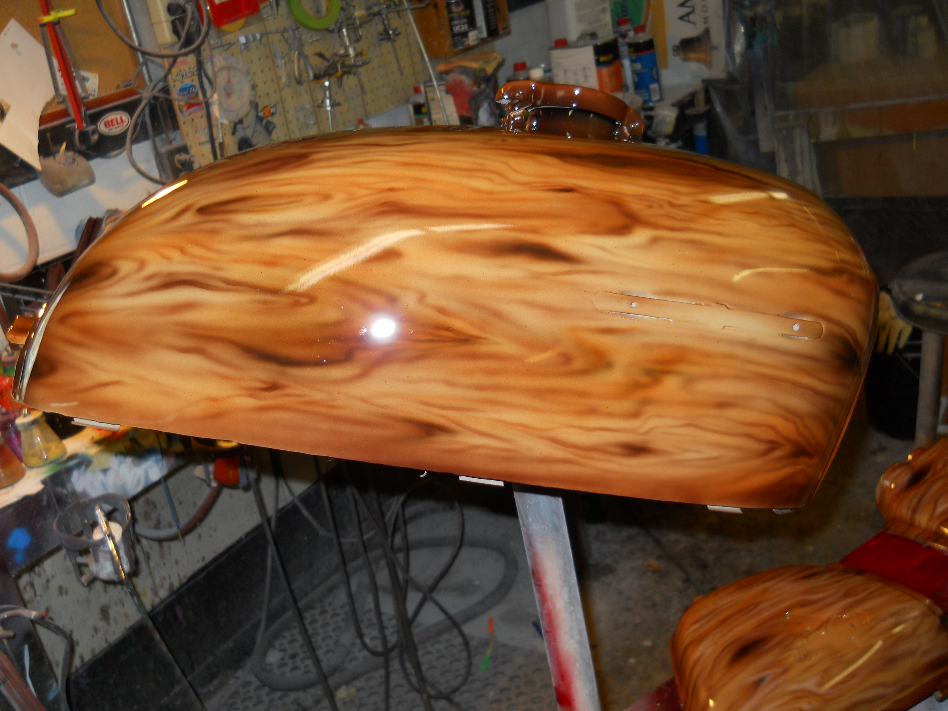 painted tank to look like wood
