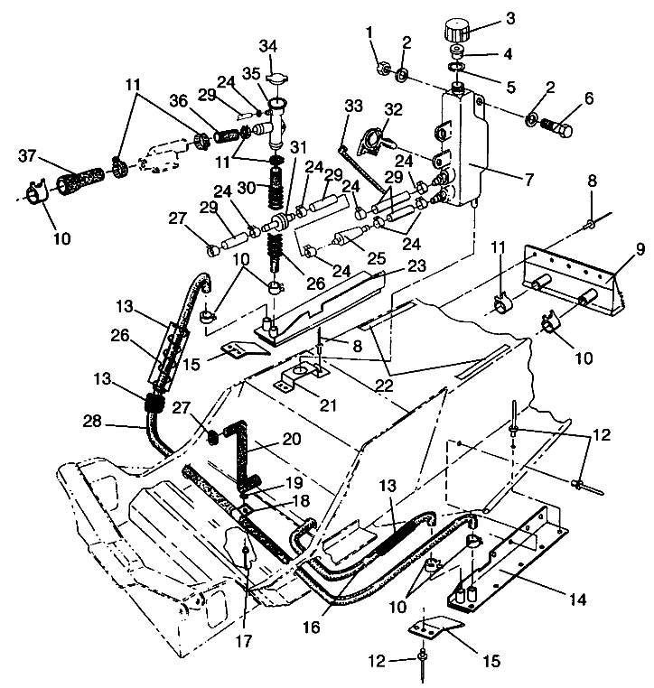 Polaris Snowmobile Engine 440