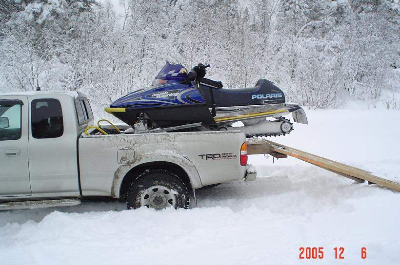 Sled Deck In Short Box Truck