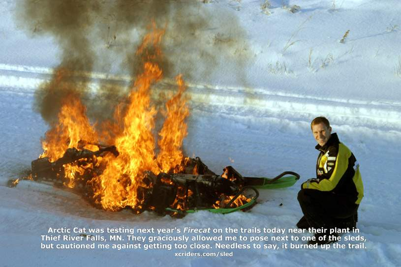 Sled On Fire