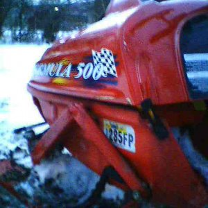 Crashed 1998 Skidoo formula 500