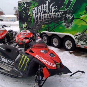 Paul Thackers 301' sled!