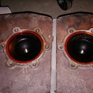 Cylinder Heads - 1978 El Tigre - pair of carbon coated cans of awesome