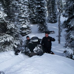 Ryan and Russ - If you look in the back my sled is at the bottom there was no other way up.