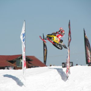 Airing out at the Hayward 300 national snocross race