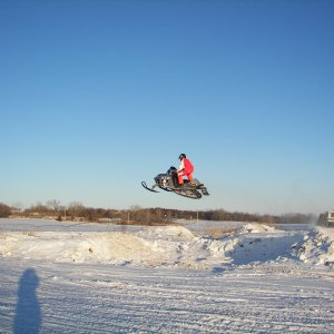 Jumping the old mans sled