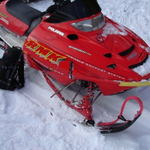 backup sled oops - Rock + sled = backcountry rigging