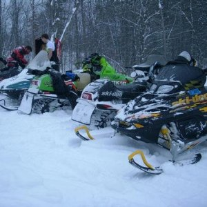 hmmm Ski-doo with a hood up? typical... haha =P - Some of my buddies.