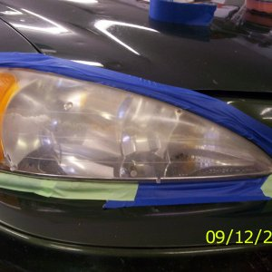 Headlight Cleaning - Before